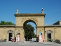 10-MUC Munich - entrance gate to the Hofgarten park from Odeonsplatz and Theatinerstrasse bavaria